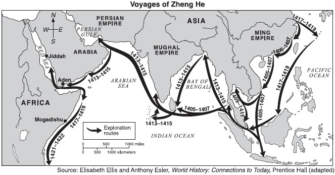 Kiinan löytöretket 1400-luvulla Lähi-itään ja Afrikkaan