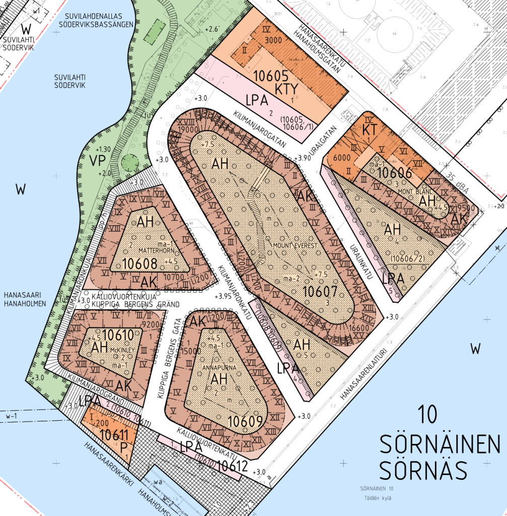 Kaupunkisuunnittelulautakunnan hyväksymä asemakaavaehdotus
