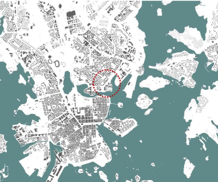 Merihaan ja Hakaniemen välissä on leveä juopa